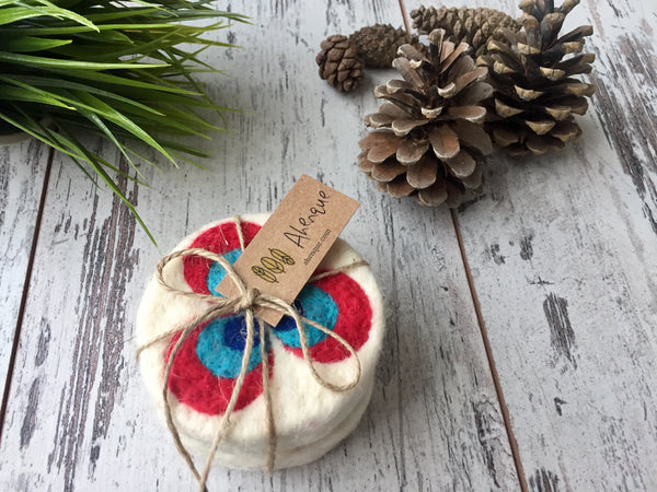 Set of 2 Ottoman Art, Cintemani Motif Felt Soap, Needle Felted Bar Soap, Handmade Felted Wool Soap Scrub, Natural Exfoliate Soap, Beauty Gifts - AHENQUE