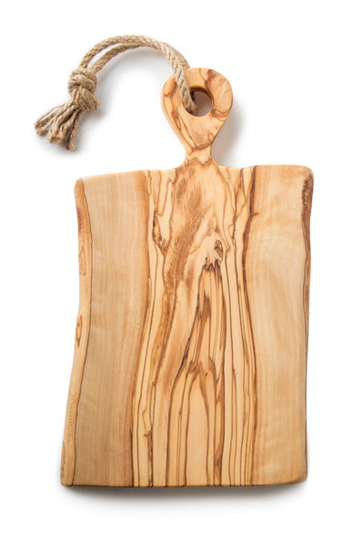 Olive Wood  Cutting Board/Chopping Board, Handcrafted From Reclaimed/Recycled Trees - AHENQUE