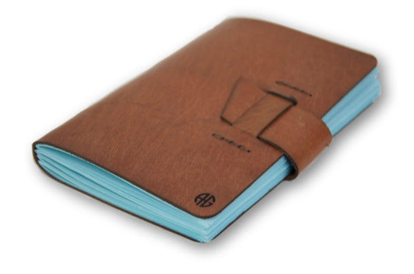 Handmade Leather Notebook, Personalized Leather Journal, Brown Handmade Journal, Personalized Rustic Leather Notebook , Tan Sketchbook, Diary - AHENQUE