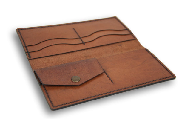 Leather Notebook&Long Purse Set, Leather Gift Set, Personalized Gift For Her/His - AHENQUE