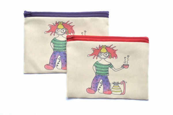 Morning Girl, Zipper Pouch/Purses - AHENQUE