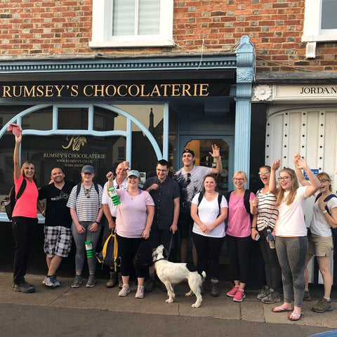 Rumsey's Charity Walk Chilterns MS Centre Arrive Thame
