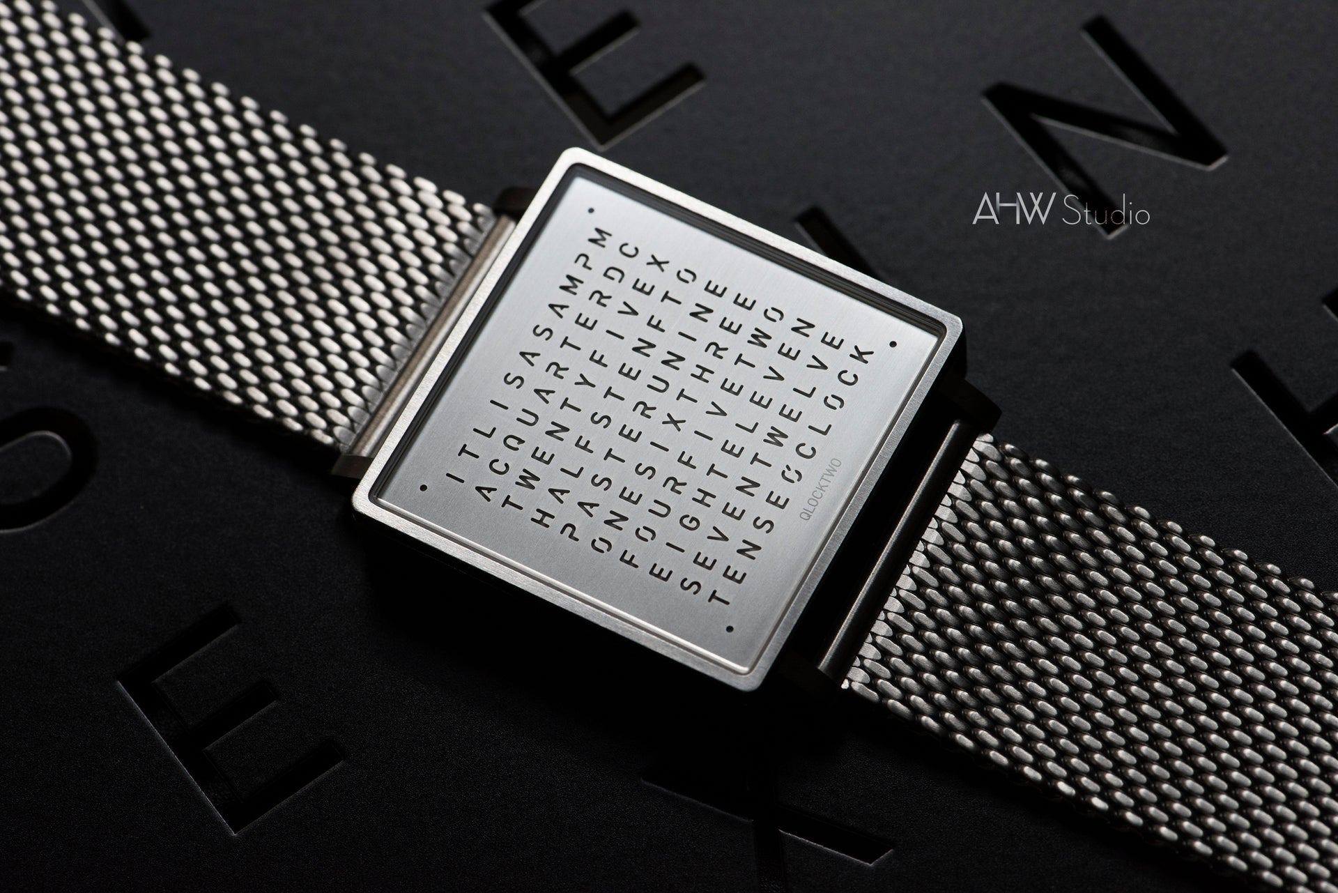 QLOCKTWO - 35mm - 'Fine Steel' Wristwatch