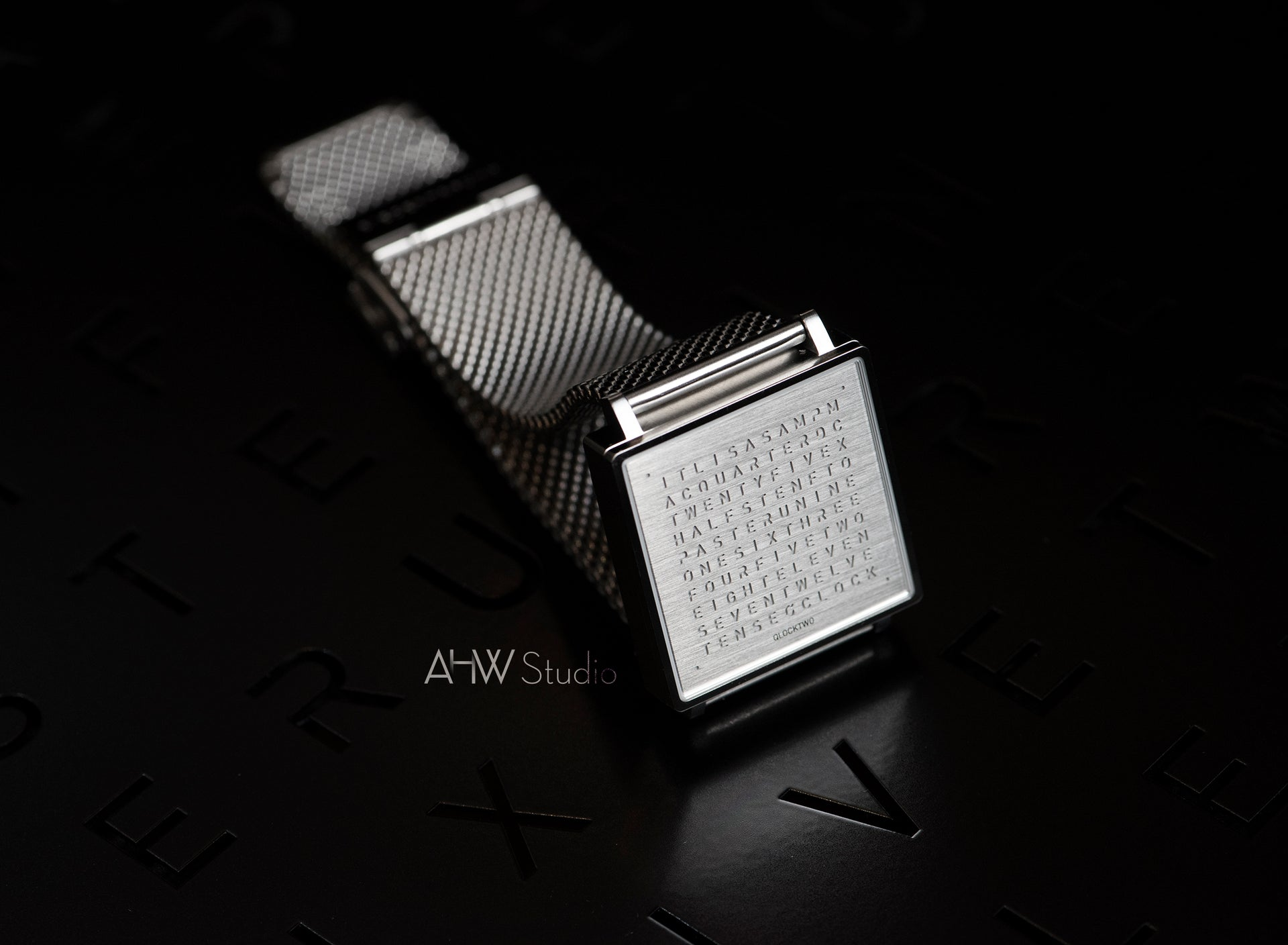 QLOCKTWO - 35mm - 'Fine Steel' Wristwatch - AHW Studio