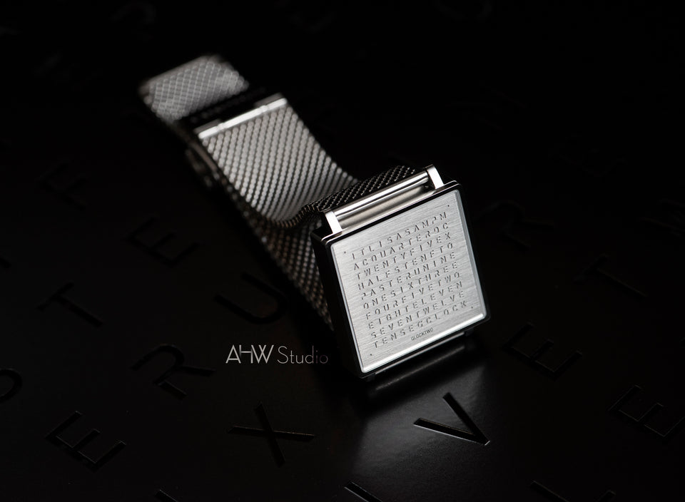 QLOCKTWO - 35mm - Fine Steel - AHW Studio