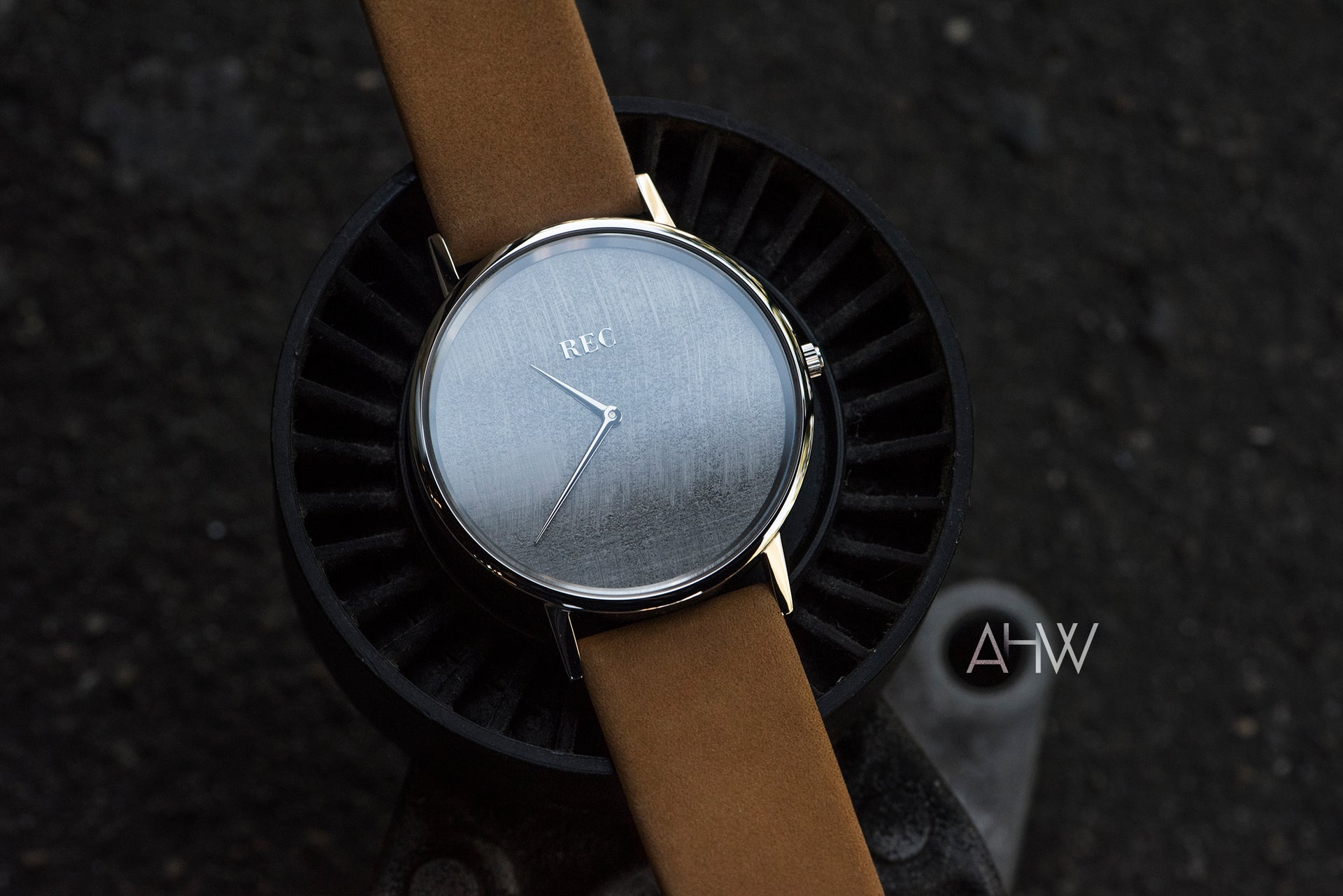 'Minimalist' RAW SILVER - Upcycled Mini Cooper Watch - AHW Studio