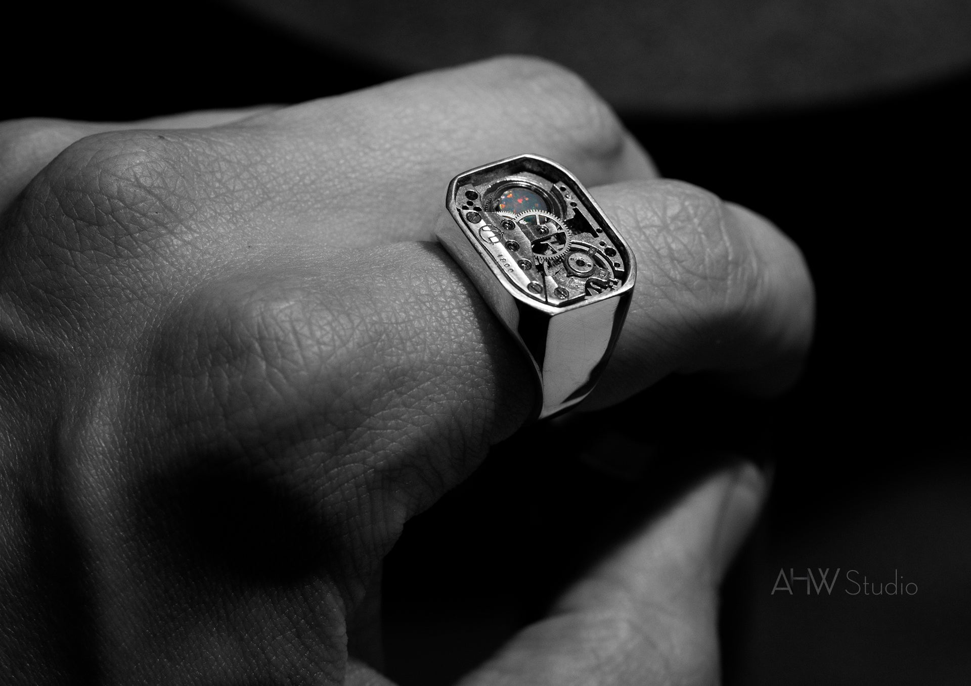 'The Mark Arc' - Sterling Silver Ring