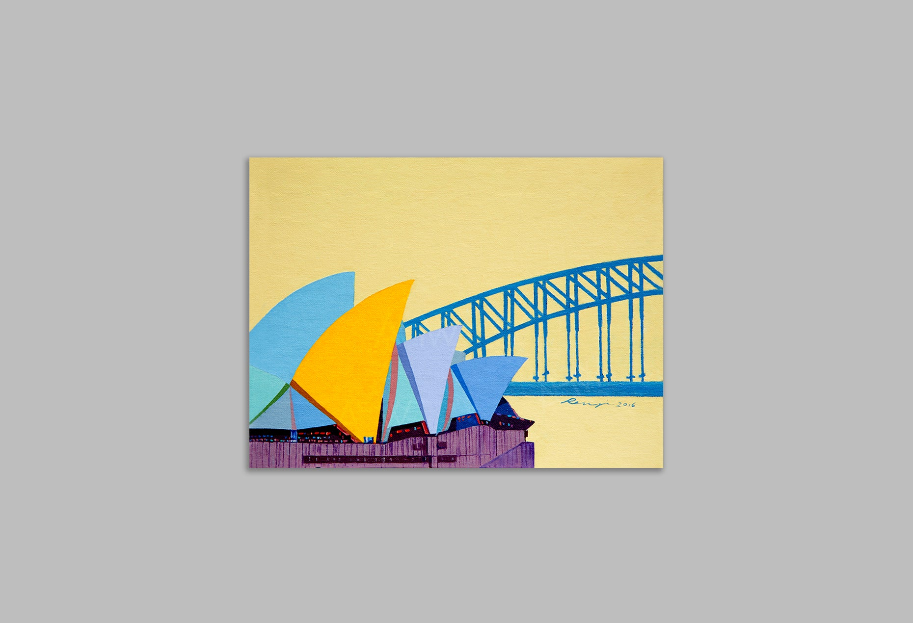 'Sunshine Sydney' - Canvas Art Print