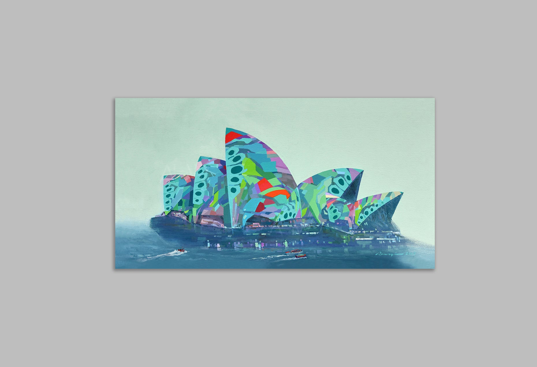 'The Green Fantasia' - Canvas Art Print