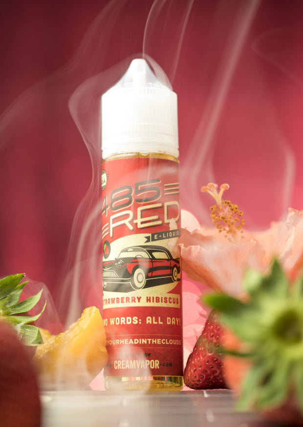 485 RED - STRAWBERRY HIBISCUS | 60ML - CREAM VAPOR - VAPOURHOLICS.COM.AU