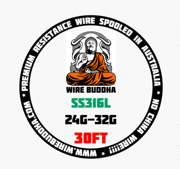 WIRE BUDDHA - SS316L - 30FT SPOOLS (VARIUS GUAGES) - Vapourholics