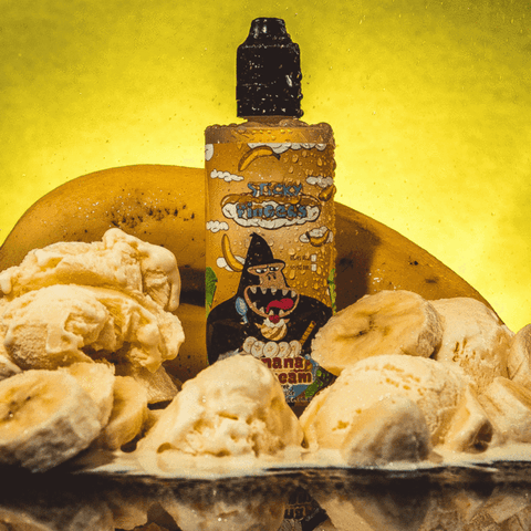 Banana Ice Cream - STICKY FINGERS E-JUICE - VAPOURHOLICS.COM.AU