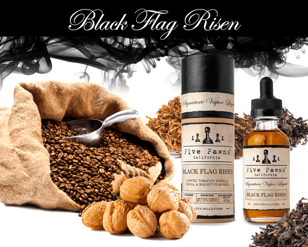 BLACK FLAG RISEN (Previously known as ENRICHED)  | 60ML - FIVE PAWNS - VAPOURHOLICS.COM.AU