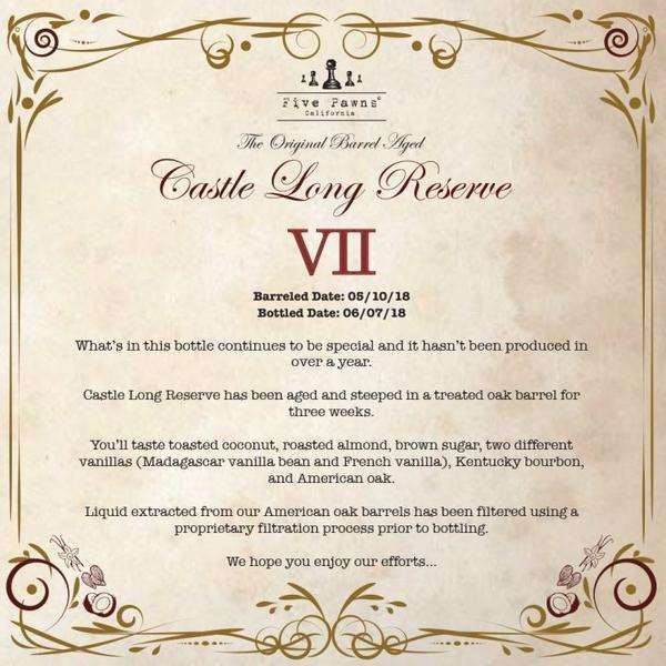 CASTLE LONG RESERVE EDITION VII | 60ML - FIVE PAWNS - VAPOURHOLICS.COM.AU