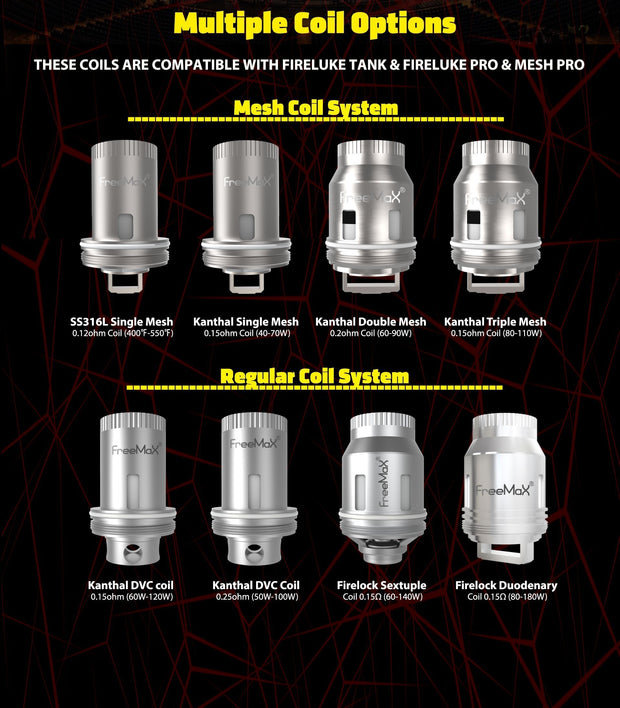 FREEMAX MESH PRO - REPLACEMENT COILS - FREEMAX - VAPOURHOLICS.COM.AU
