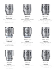 SMOK TFV8 BABY REPLACEMENT COILS (PACK OF 5) VAPOURHOLICS