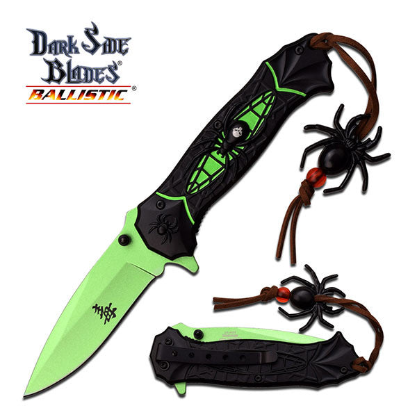 Assisted Opening Dark Side Spider Folding Knife