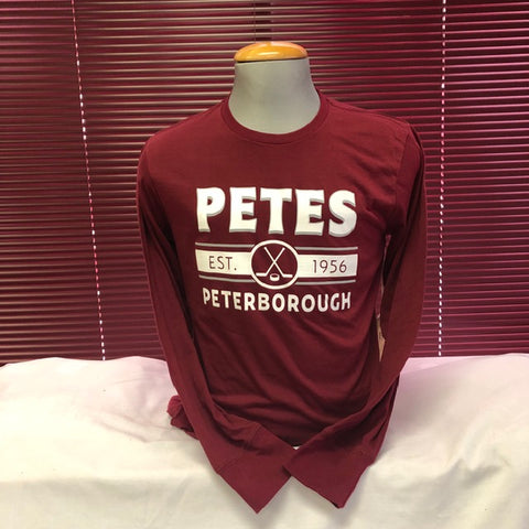 Campus Crew Maroon Long Sleeve Tee Shirt
