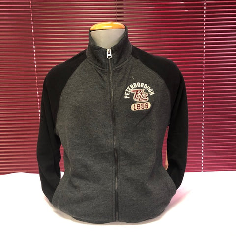Zippered Black and Grey Sweat Shirt