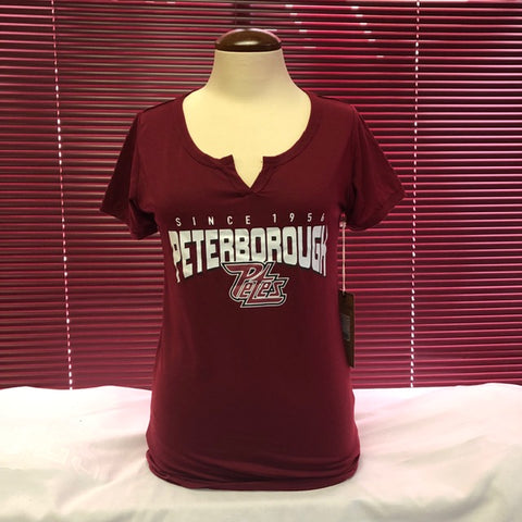 Ladies Maroon Tee Shirt