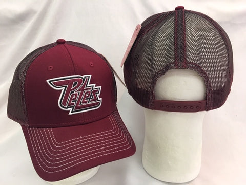 Maroon Face Mesh Back Hat