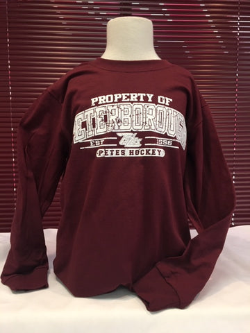 Long Sleeve Maroon Property of