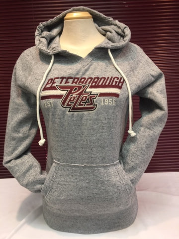 Ladies Charcoal Mix Hoodie
