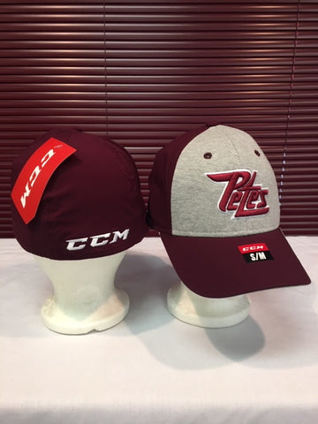 CCM  Maroon and Grey Flex Cap