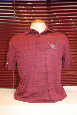 Short Sleeve Maroon Heather Golf Shirt