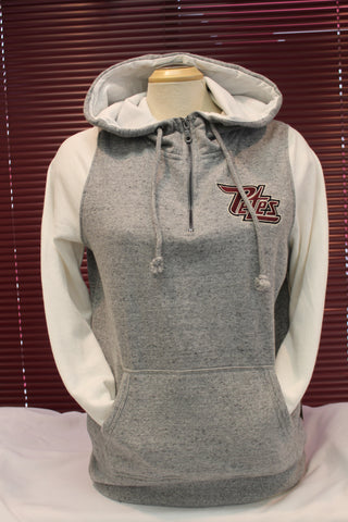 Ladies Cream and Grey Hoodie