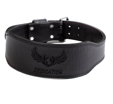 Dedication - NEW Black on Black WEIGHTLIFTING BELT
