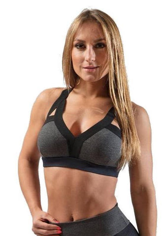 Grey Padded Sports Bra