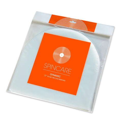 "DYNAMIC 12 Inch Premium Inner Record Sleeves – For 12"" Vinyl LPs (Pack of 100)"
