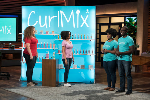CurlMix Founders on Shark Tank Kim and Tim