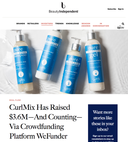 Beauty Independent CurlMix Post Equity Crowdfund with CurlMix