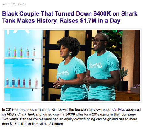 Black Business Equity Crowdfund CurlMix