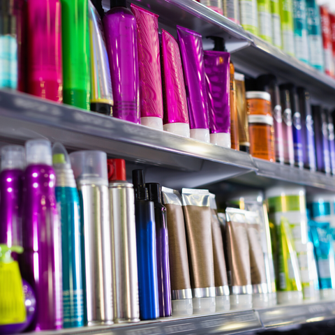 Cosmetic Products on the Shelf
