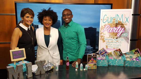 CurlMix Party on Fox 32 Chicago