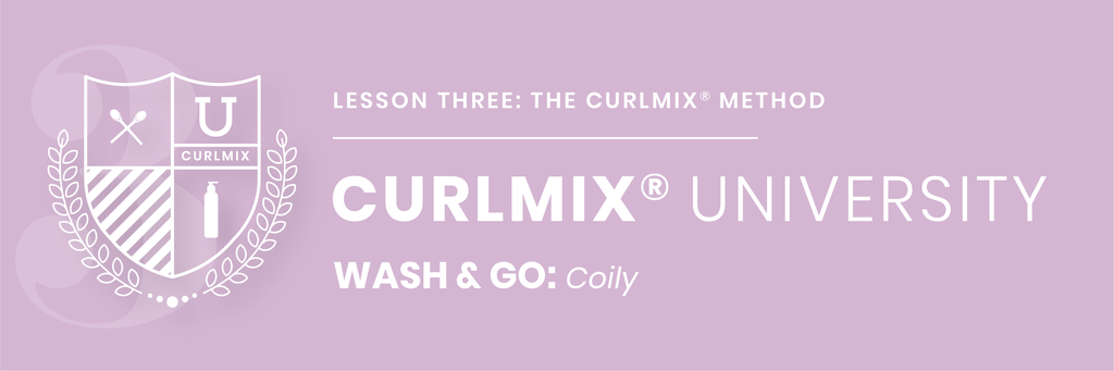 CurlMix University Wash and Go on Coily Hair