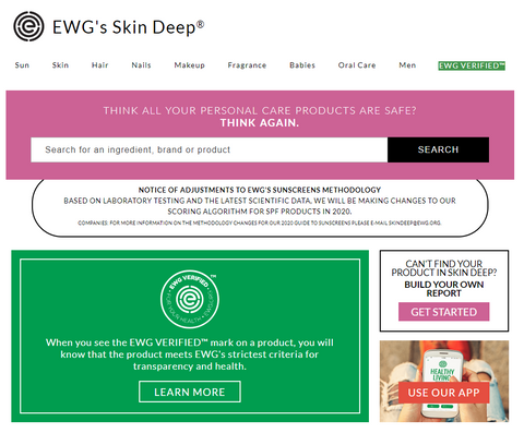 Environmental Working Group Skin Deep Database
