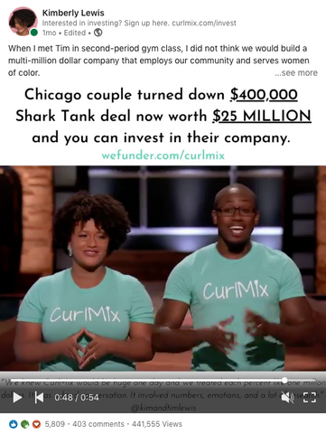 Viral Linkedin Post Equity Crowdfund with CurlMix