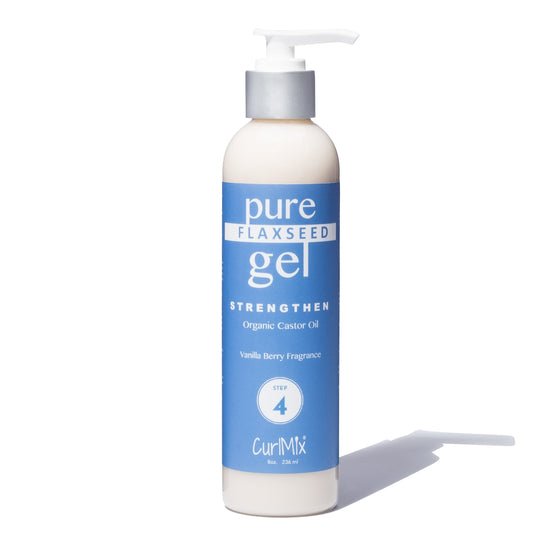 Pure Flaxseed Gel with Organic Castor Oil for Strengthening Hair & Vanilla Berry Fragrance