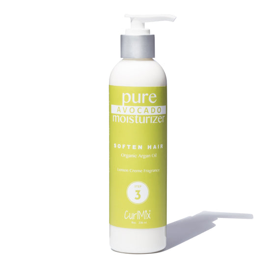 Pure Avocado Moisturizer with Organic Argan Oil for Softening Hair & Lemon Creme Fragrance - CurlMix