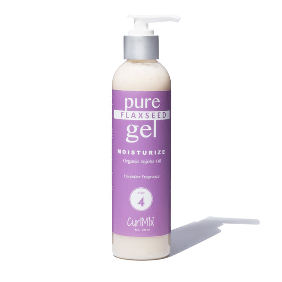 Pure Flaxseed Gel with Organic Jojoba Oil for Moisturizing Hair & Lavender Fragrance - CurlMix