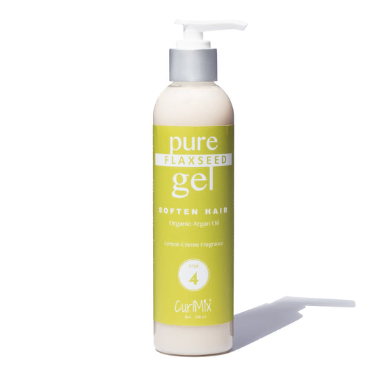 Pure Flaxseed Gel with Organic Argan Oil for Softening & Lemon Creme Fragrance - CurlMix