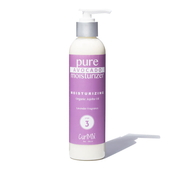 Pure Avocado Moisturizer with Organic Jojoba Oil for Moisturizing Hair & Lavender Fragrance - CurlMix