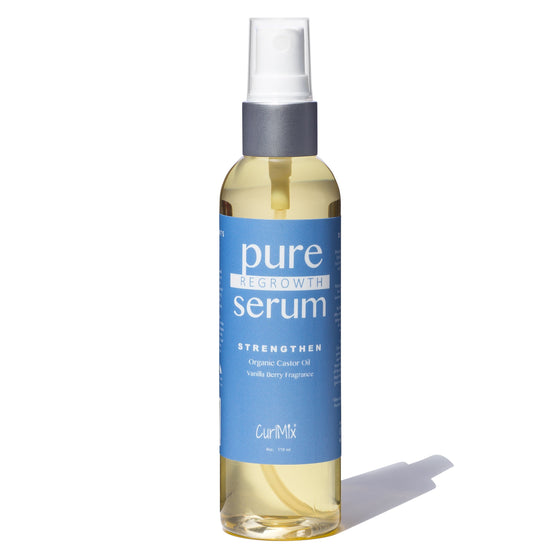 Pure Regrowth Serum with Organic Castor Oil for Strengthening & Vanilla Berry Fragrance - CurlMix