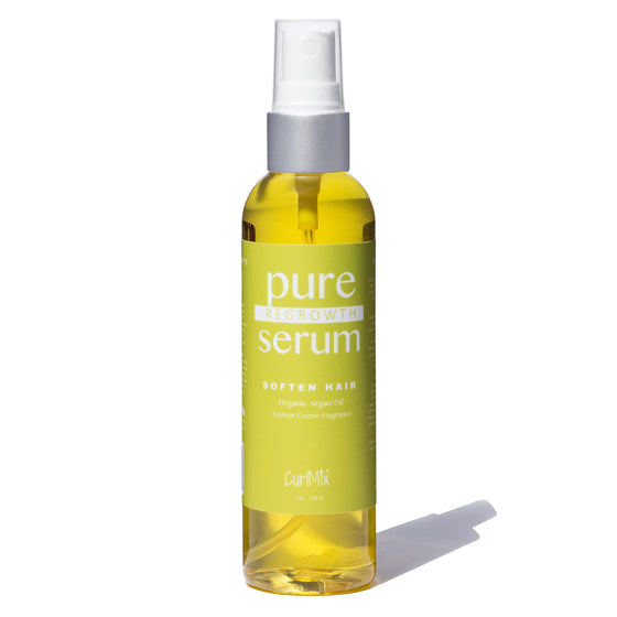 Pure Regrowth Serum with Organic Argan Oil for Softening & Lemon Creme Fragrance - CurlMix