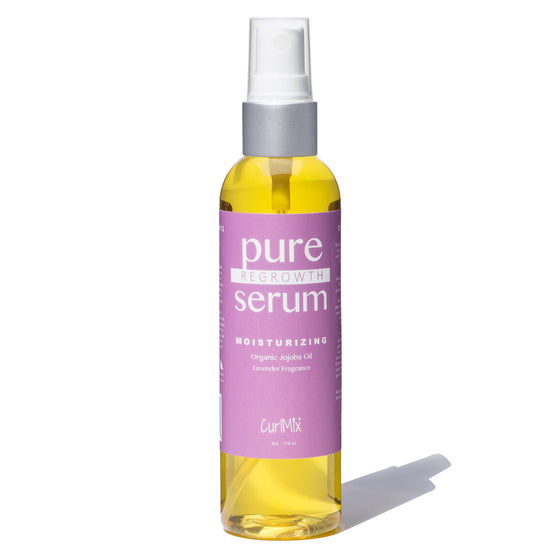 Pure Regrowth Serum with Organic Jojoba Oil for Moisturizing & Lavender Fragrance - CurlMix