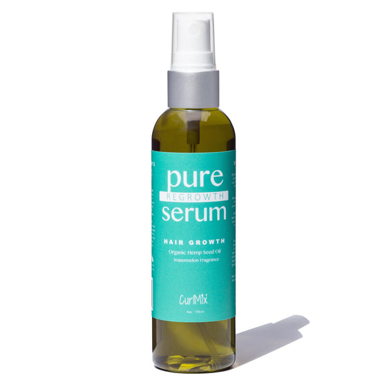 Pure Regrowth Serum with Organic Hemp Seed Oil for Hair Growth & Watermelon Fragrance - CurlMix
